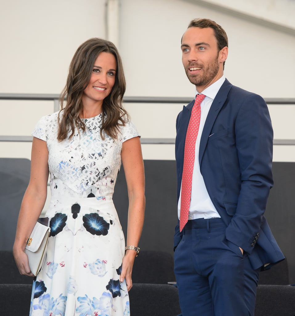 Kate Middleton's siblings, Pippa and James, sat in the royal box for the event.