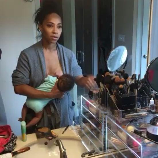Mom Shows What Breastfeeding Multitasking Really Looks Like