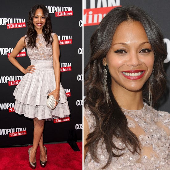 """Zoe Saldana on her style guru, not being a """"pink girl,"""" and more at the Cosmopolitan Latinas launch."""
