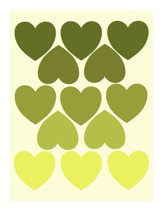 These green hearts ($16) are a great accent piece for any room.