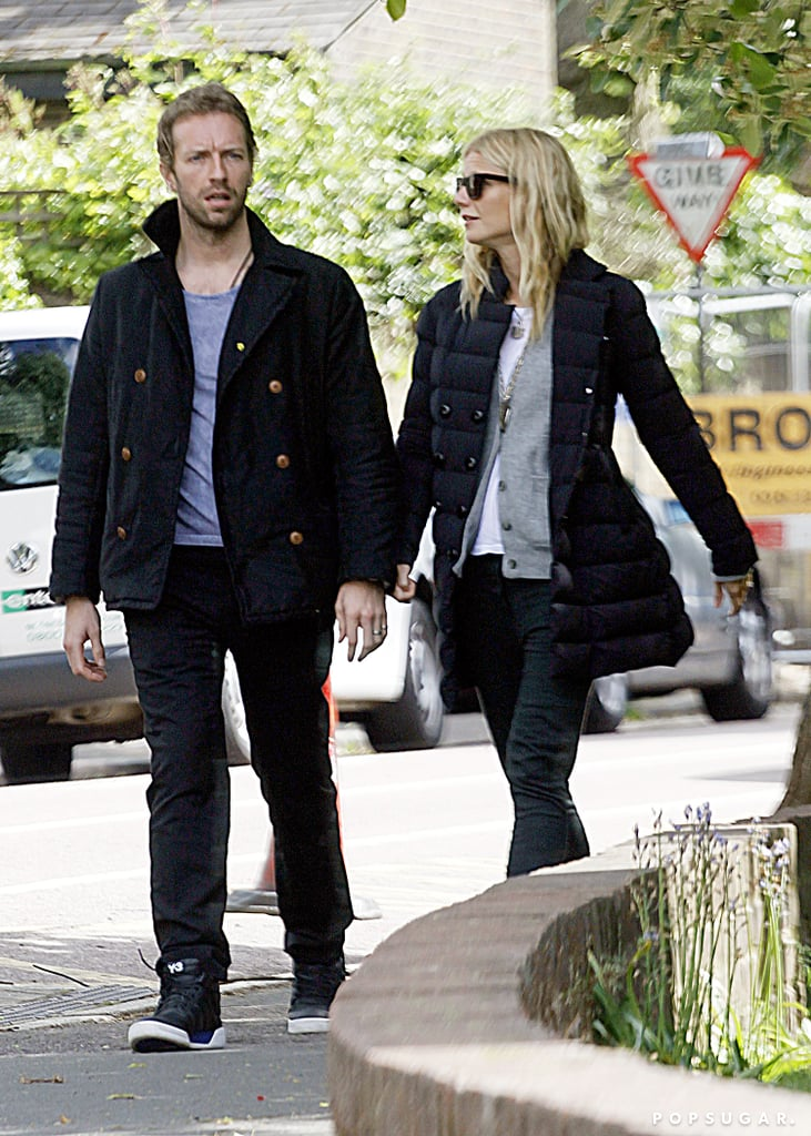 Gwyneth Paltrow and Chris Martin went for a walk in London together.