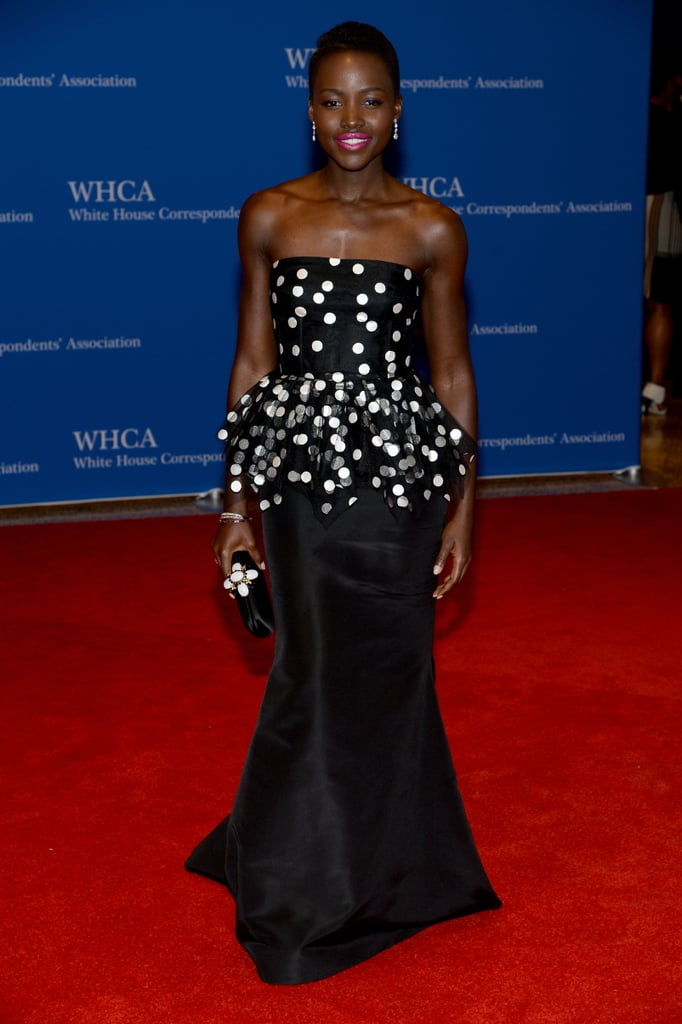 Lupita Nyong'o dazzled in a strapless gown.