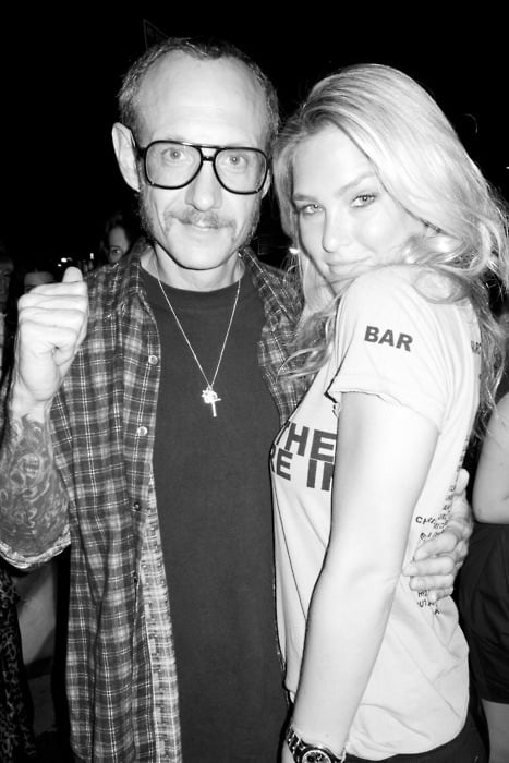 Bar Refaeli got snapped with Terry Richardson.