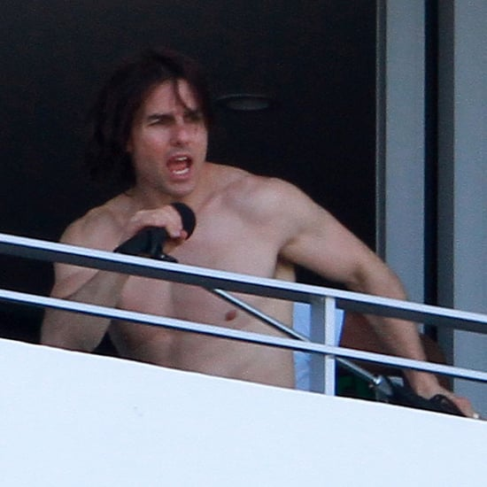 Tom Cruise Shirtless Swimming With Suri and Katie Holmes