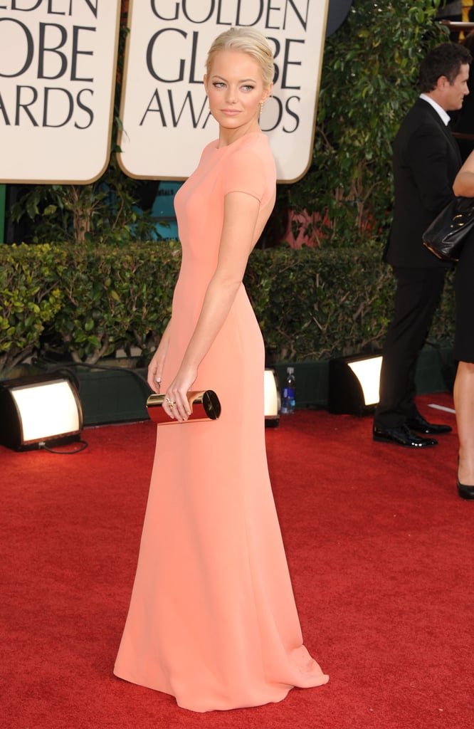 Emma Stone Makes a Bright and Blond Entrance at the Golden Globes