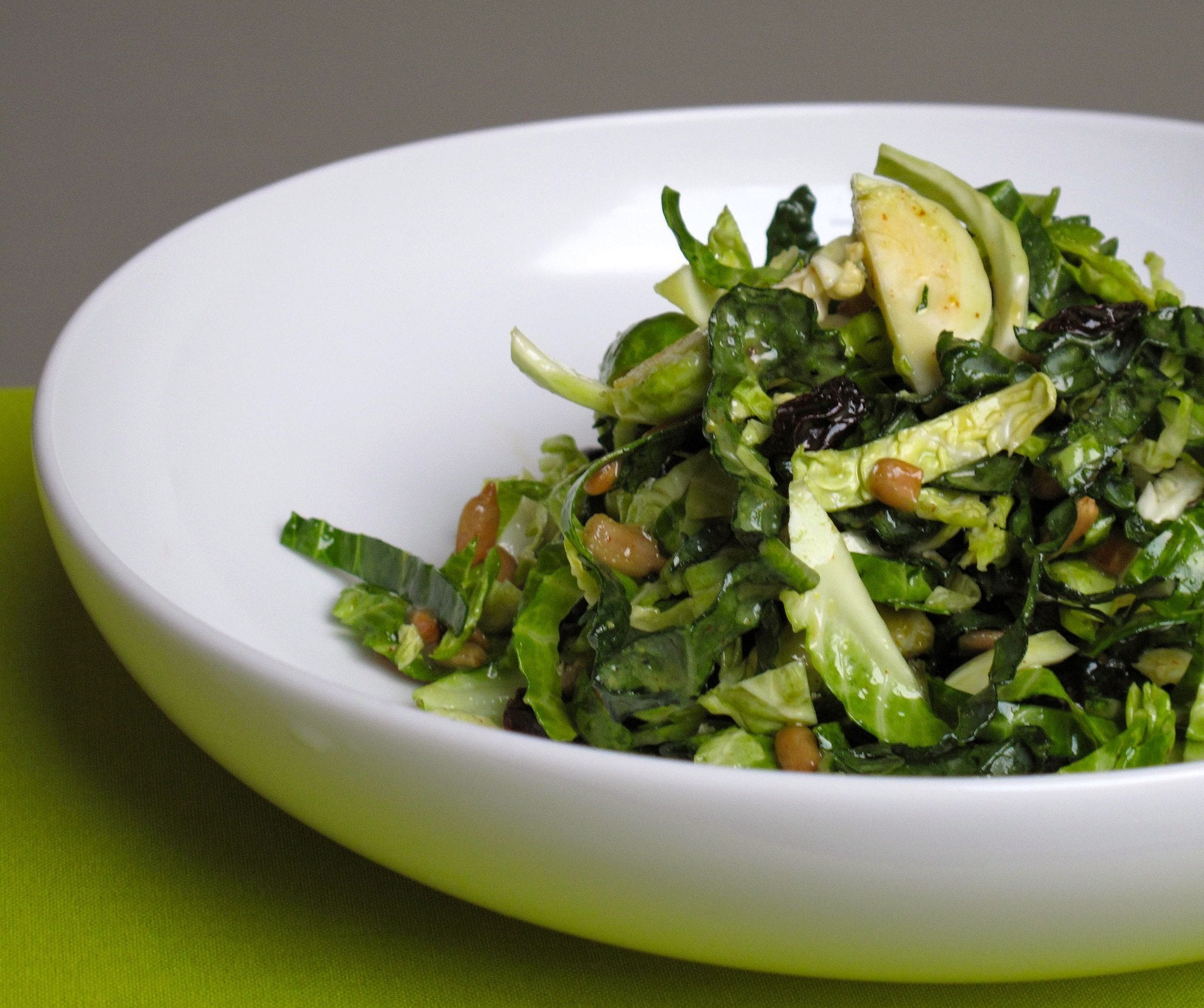 Shredded brussels sprouts salad a halloween feast for for Shredded brussel sprout salad recipe