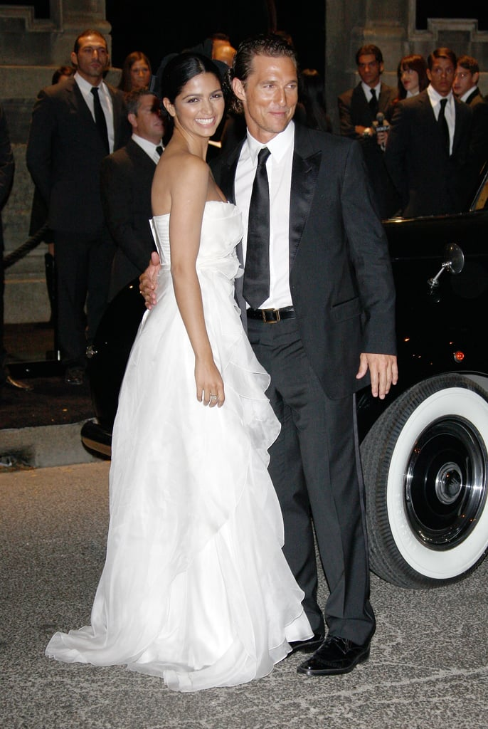 Matthew McConaughey and Camila Alves got glamorous for a September 2008 event in Milan, Italy.