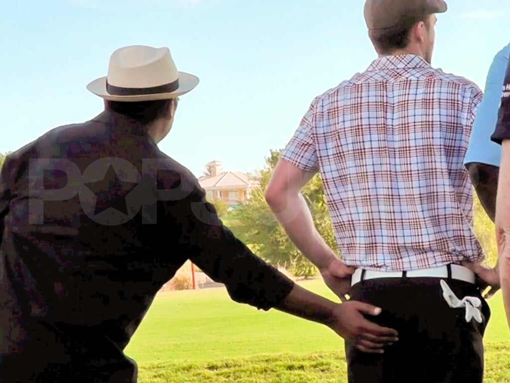 A golfer touched Justin Timberlake's backside.