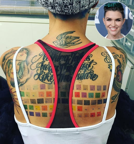 Ruby Rose Gets a Giant Pantone Color Chart Tattoo on Her Back: See It Now!