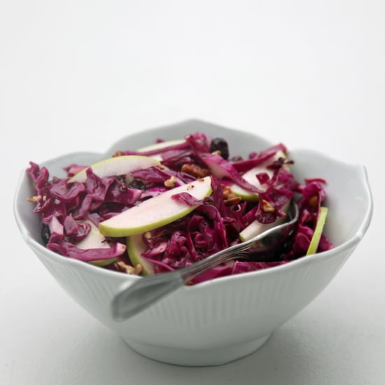 Red Cabbage, Cranberry, and Apple Slaw