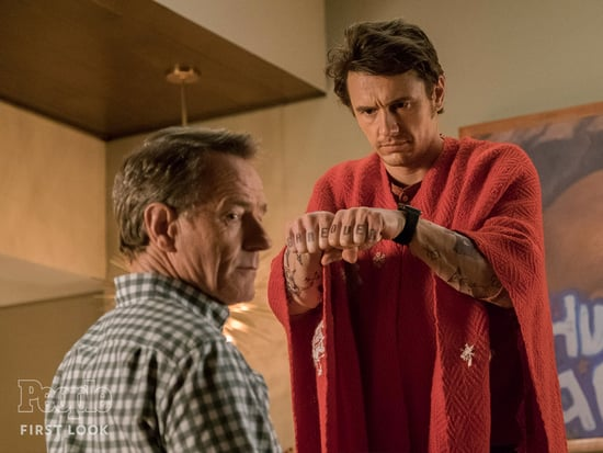 First Look! Shirtless, Tattooed James Franco Faces off with Bryan Cranston in Comedy Why Him?