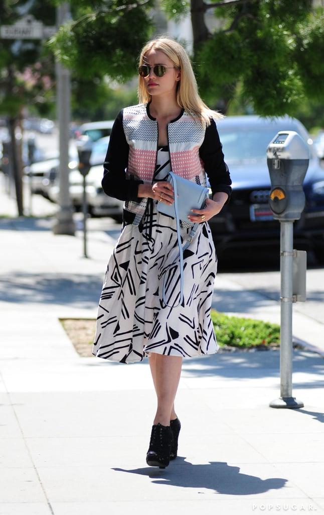 Dianna Agron took a walk a round LA on Thursday.