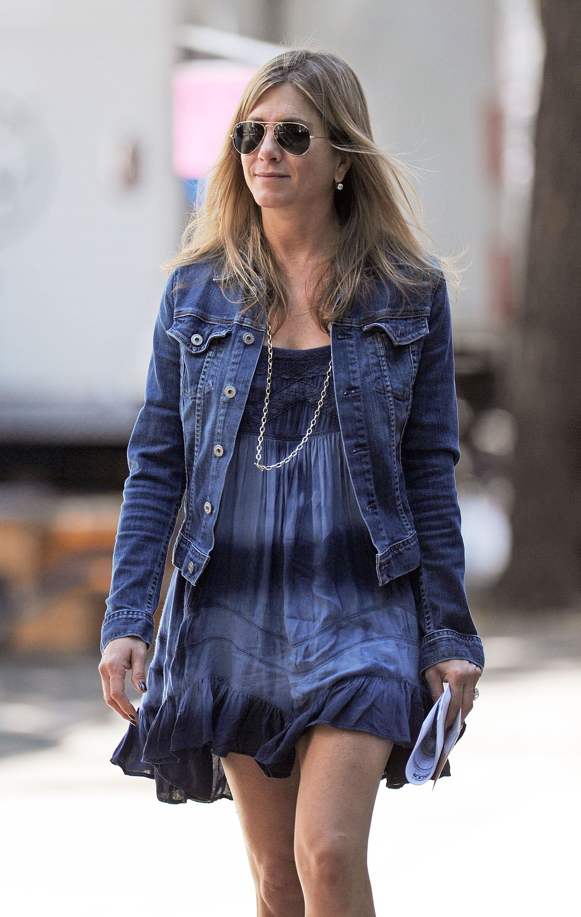 Jennifer Aniston made a July 30 stop by the set.