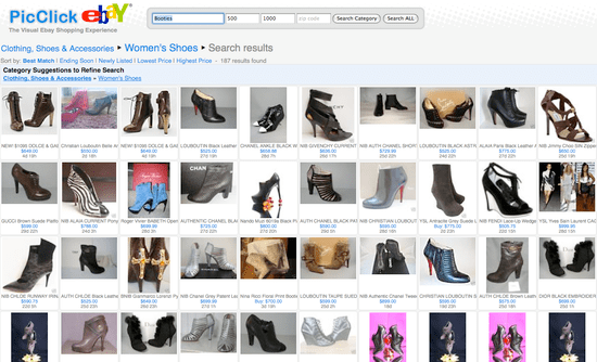 PicClick Allows eBay Users to See All Auctions Together, Instead of Scrolling