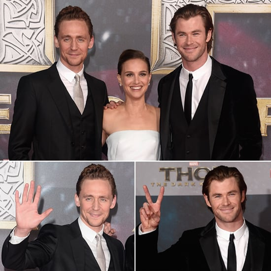 Natalie Portman Looks White Hot With Her Handsome Costars