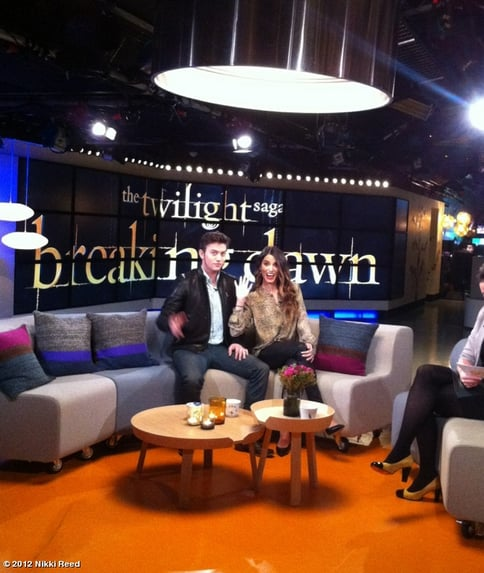 Jackson Rathbone and Nikki Reed did press for Breaking Dawn Part 2. Source: Nikki Reed on WhoSay