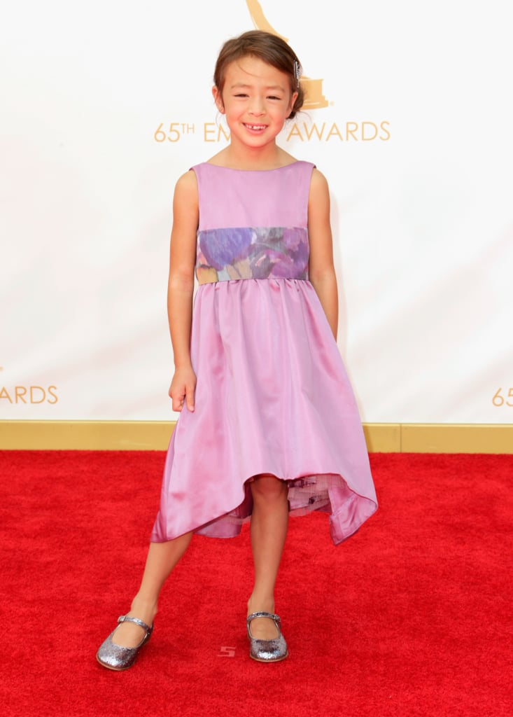 Aubrey Anderson-Emmons on the red carpet at the 2013 Emmy Awards.