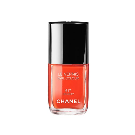The bold orangey-red hue of Chanel Le Vernis in Holiday ($27) screams Summer. Let the vibrant color adorn your toes or fingertips for a hot-weather hue that perfectly complements a (fake) tan. — KD
