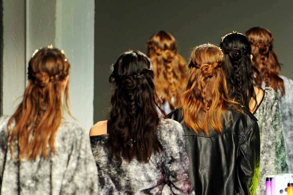 To prep the hair, Gilbert worked in two dollops of Frizz-Ease Curl Reviver Styling Mousse before drying.