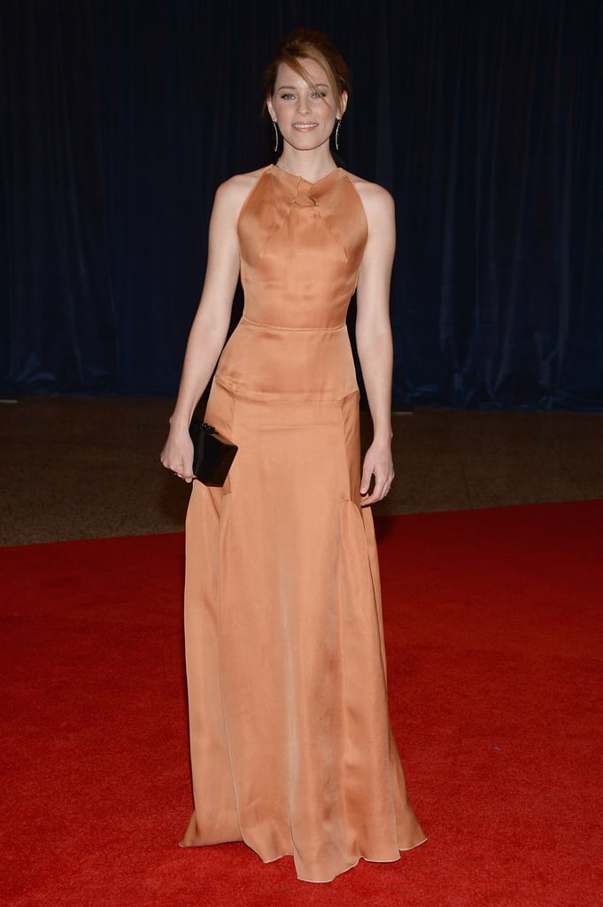 Elizabeth Banks walked the red carpet.