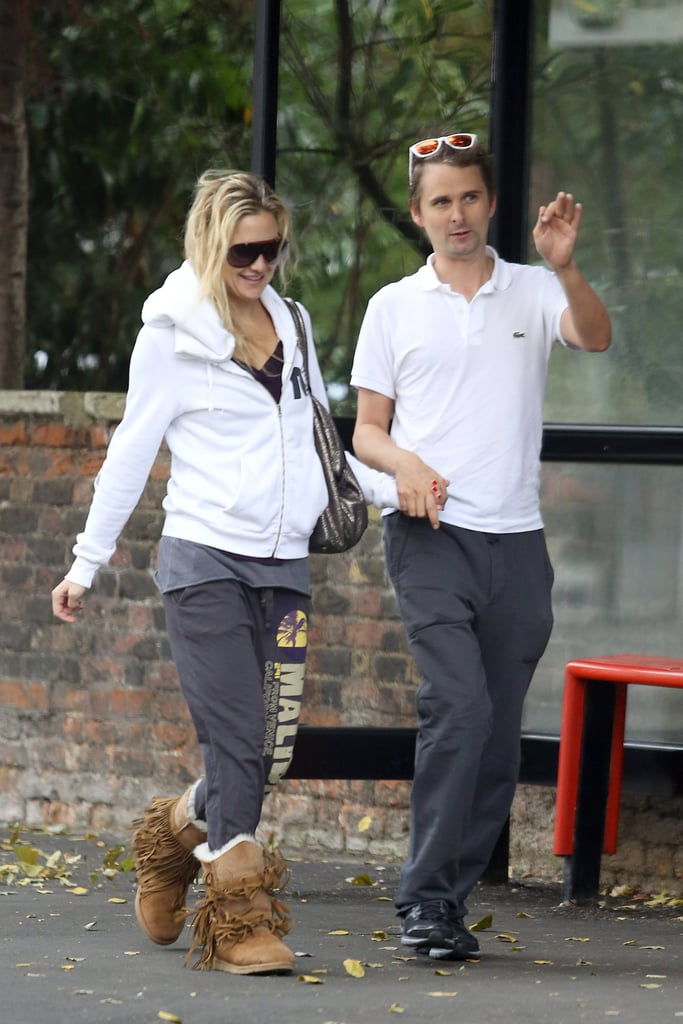Kate Hudson and Matthew Bellamy took a stroll together in London.