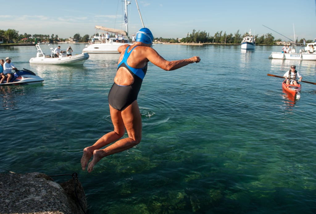 At age 64, Diana Nyad made history by swimming from Cuba to Florida in 53 hours without stopping.