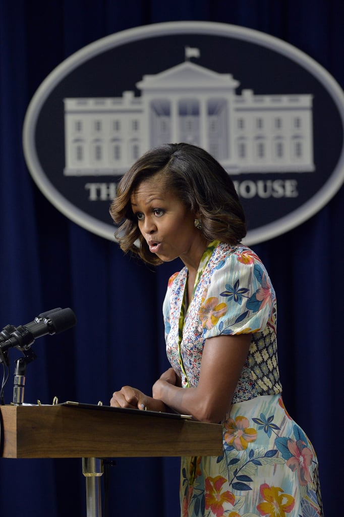 """Michelle Obama spoke at the screening as part of the 50th anniversary of Martin Luther King Jr.'s """"I Have a Dream"""" speech."""