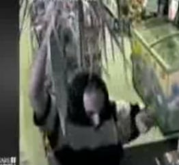 Robber Holds Up a Store With a Palm Frond