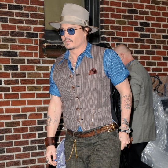 Johnny Depp at David Letterman Studios Pictures