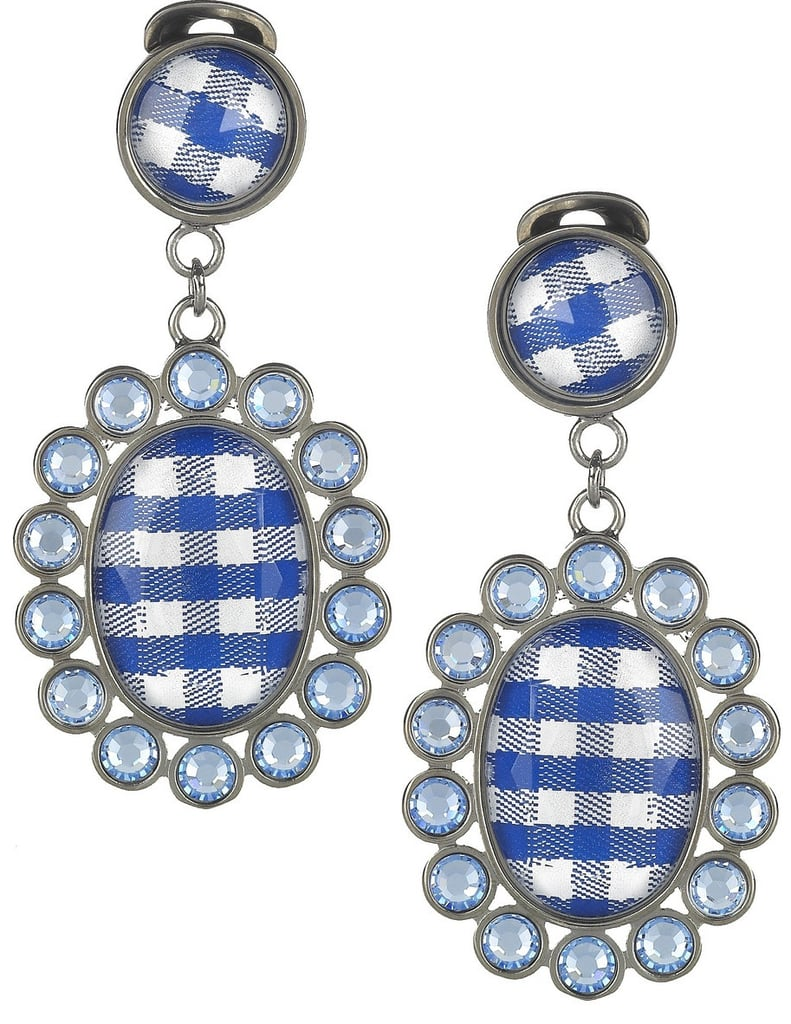 Assert your love of Summer's playful gingham print via a subtle accent — just add a red lip and a breezy sundress for the perfect warm-weather combo. Miu Miu Gingham and Plexiglass Crystal Clip Earrings ($161)