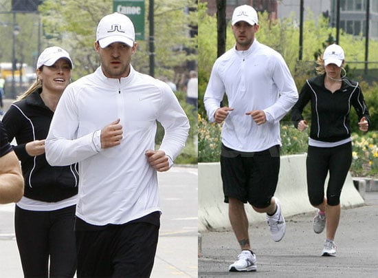Photos of Justin Timberlake and Jessica Biel Running in New York
