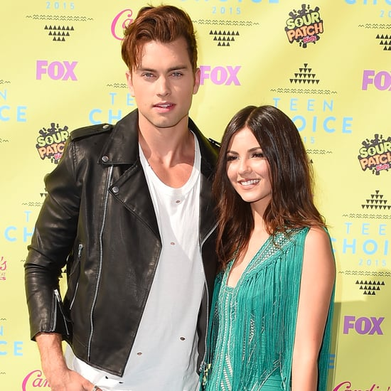 Victoria Justice and Boyfriend 2015 Teen Choice Awards