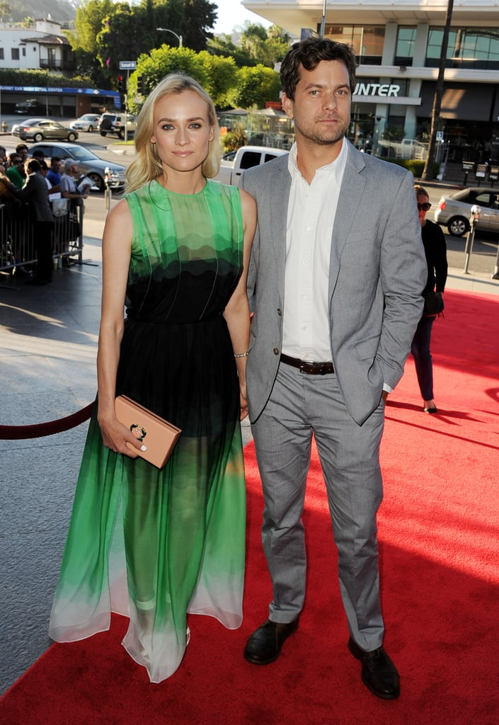 Cute couple Diane Kruger and Joshua Jackson brightened up the red carpet at the premiere of her new TV show, The Bridge, in LA on July 8.