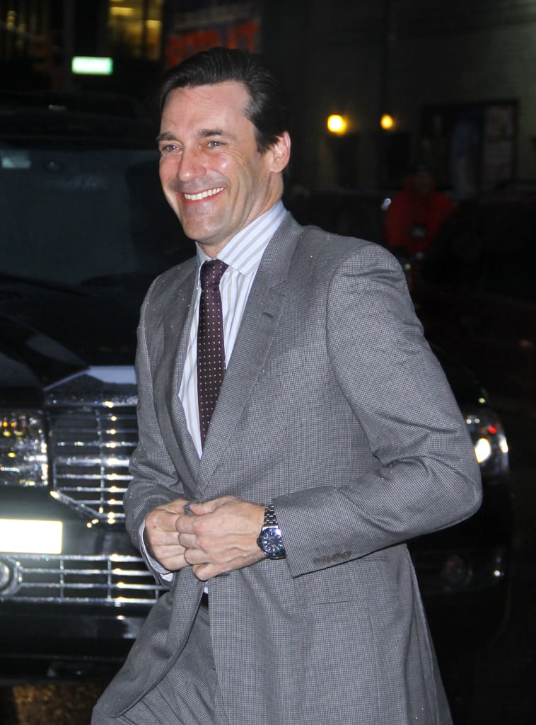 Jon Hamm at the Late Show.