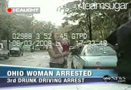 Drunk Mom Lets Toddler Steer