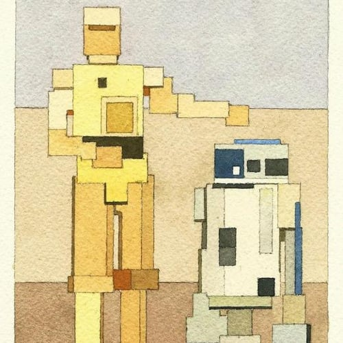 8-Bit Watercolor Art