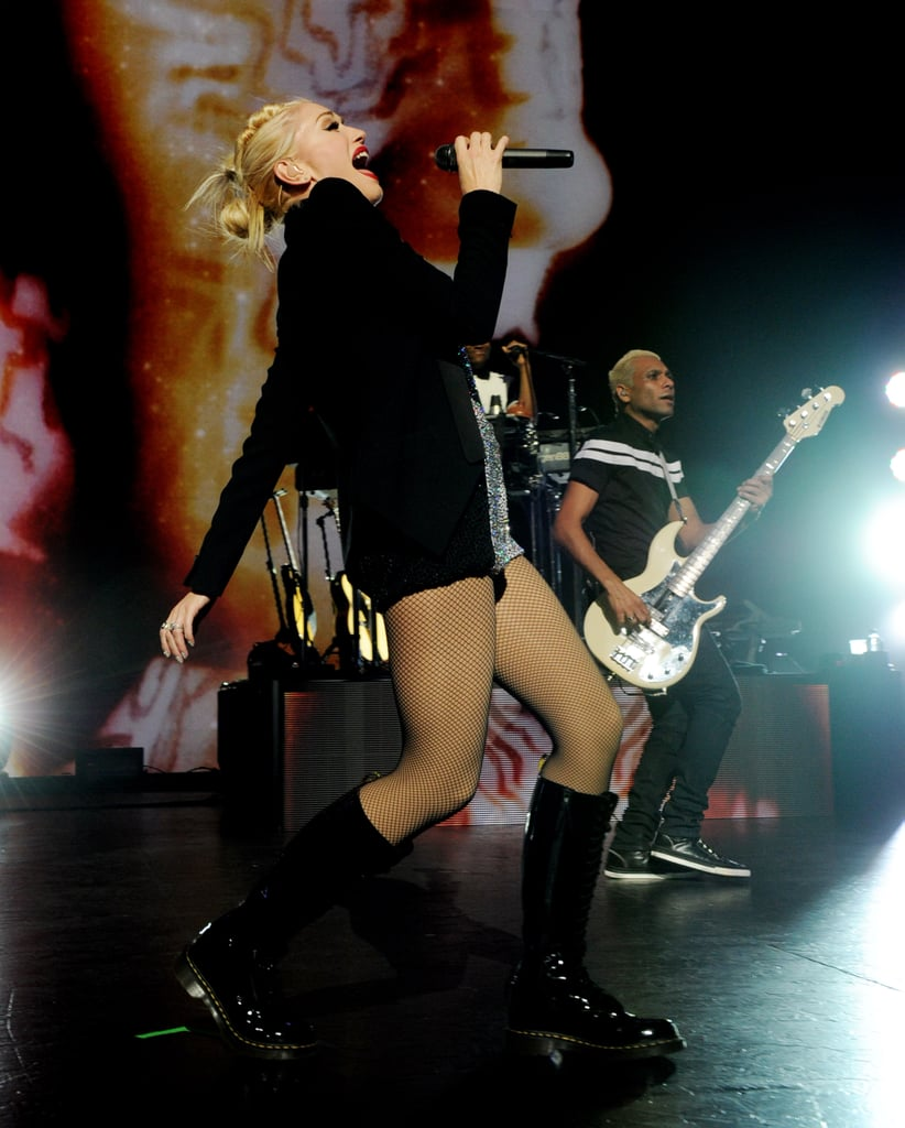 Gwen Stefani performed with the rest of No Doubt.