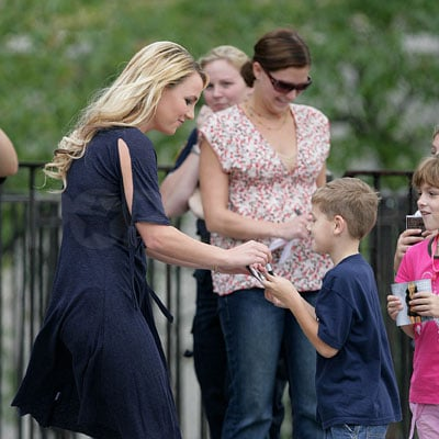 Britney Spears Visits a NYC School