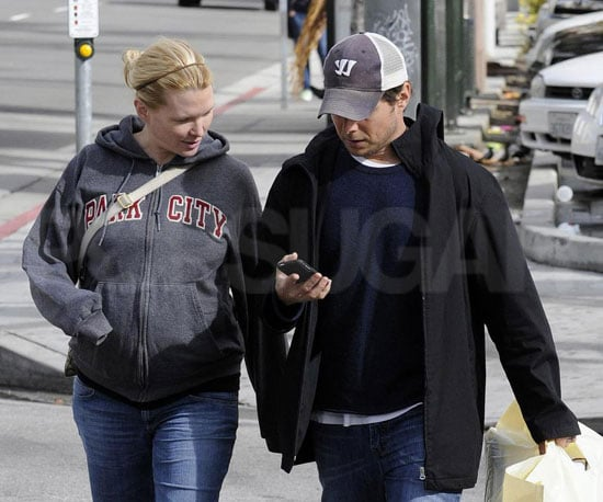 Photos of Scott Wolf and His Pregnant Wife Kelley Limp Out in LA