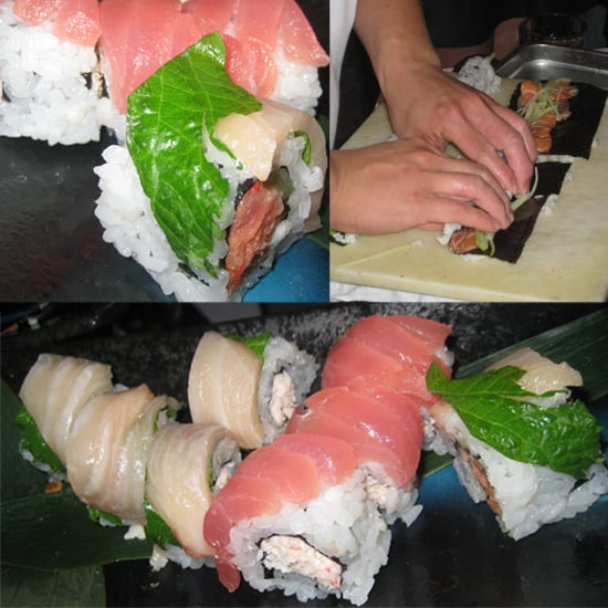 The chef from Ozumo was rolling fresh sushi. However, he couldn't work fast enough! As soon as he plated it, the sushi was devoured.