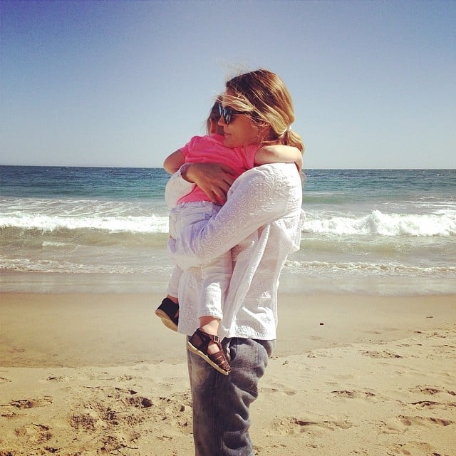 Drew Barrymore got a big hug from Olive Kopelman on Mother's Day. Source: Instagram user drewbarrymore