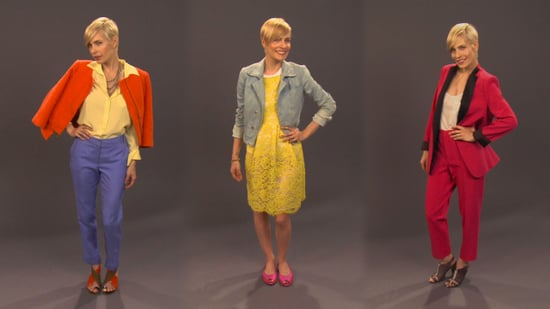 How to Wear Spring's Bold Colours: A Quick Lesson In Trying out 2011 Bold Hue Trend
