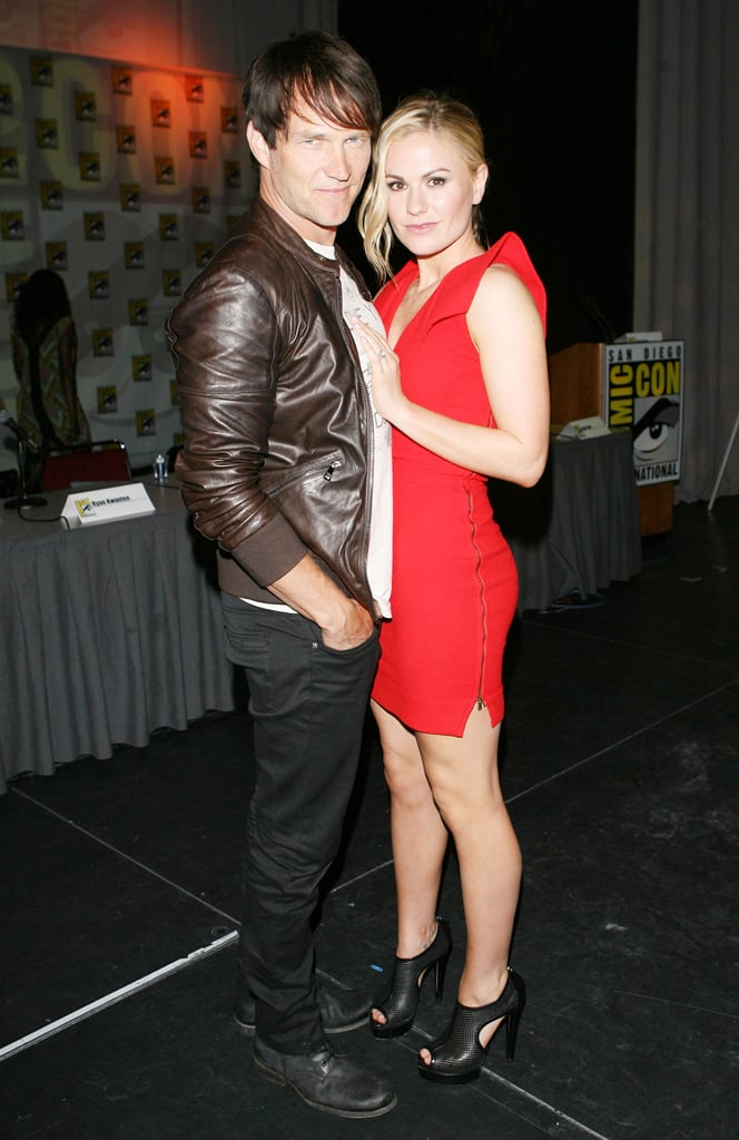 Stephen Moyer and Anna Paquin made a hot real-life couple at the True Blood Q&A session in 2011.