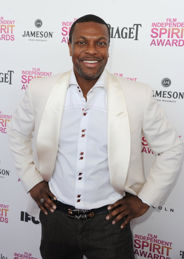 Chris Tucker on the red carpet at the Spirit Awards 2013.