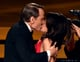 Julia Louis-Dreyfus got a big kiss from Bryan Cranston.