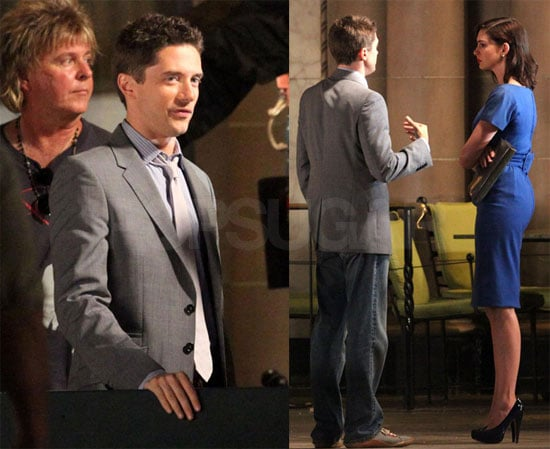 Photos of Topher Grace and Anne Hathaway Filming Valentine's Day Movie