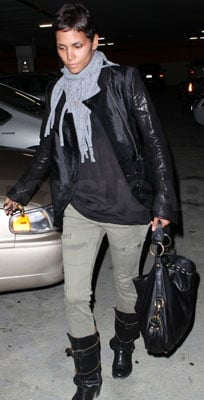 Halle Berry Wears a Fluxus Scarf in LA