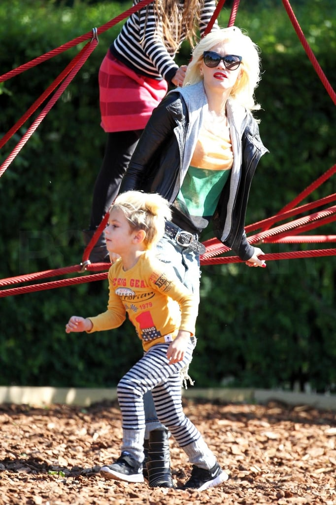 Gwen Stefani Brings Her Boys Out to Enjoy London in the Springtime!