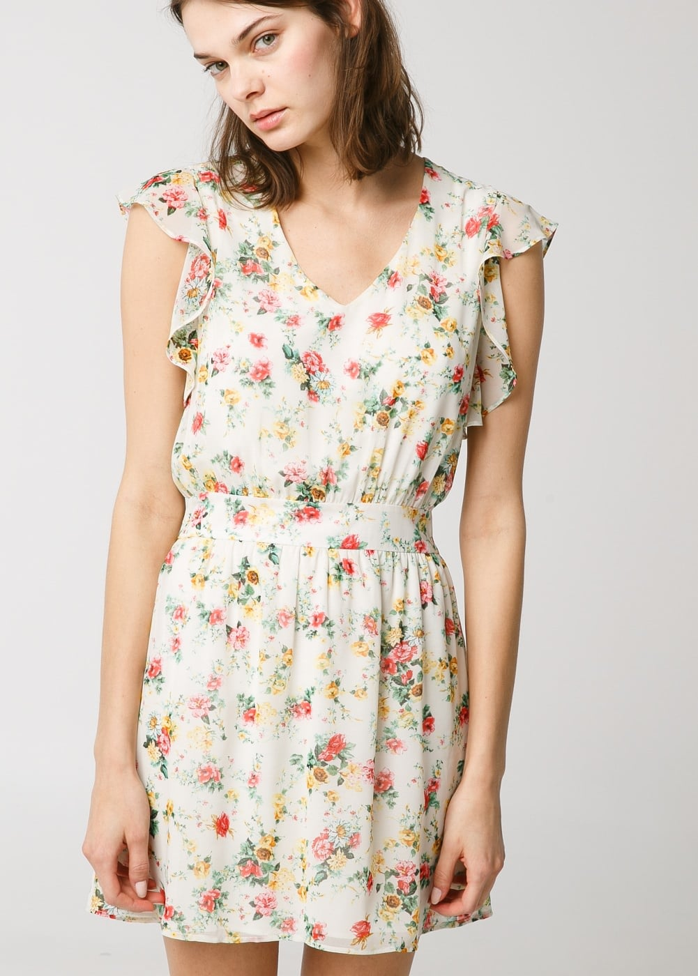 Mango Floral Chiffon Dress ($35, originally $60)