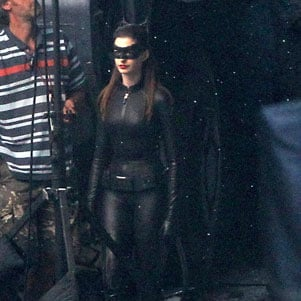 Anne Hathaway in Catwoman Suit Pictures